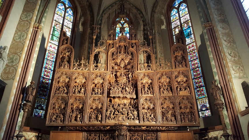 An amazing 3-D wood carving. The intricate details were unreal. Cathedral of St. Peter of Schleswig. Photo by Dragonfly Leathrum