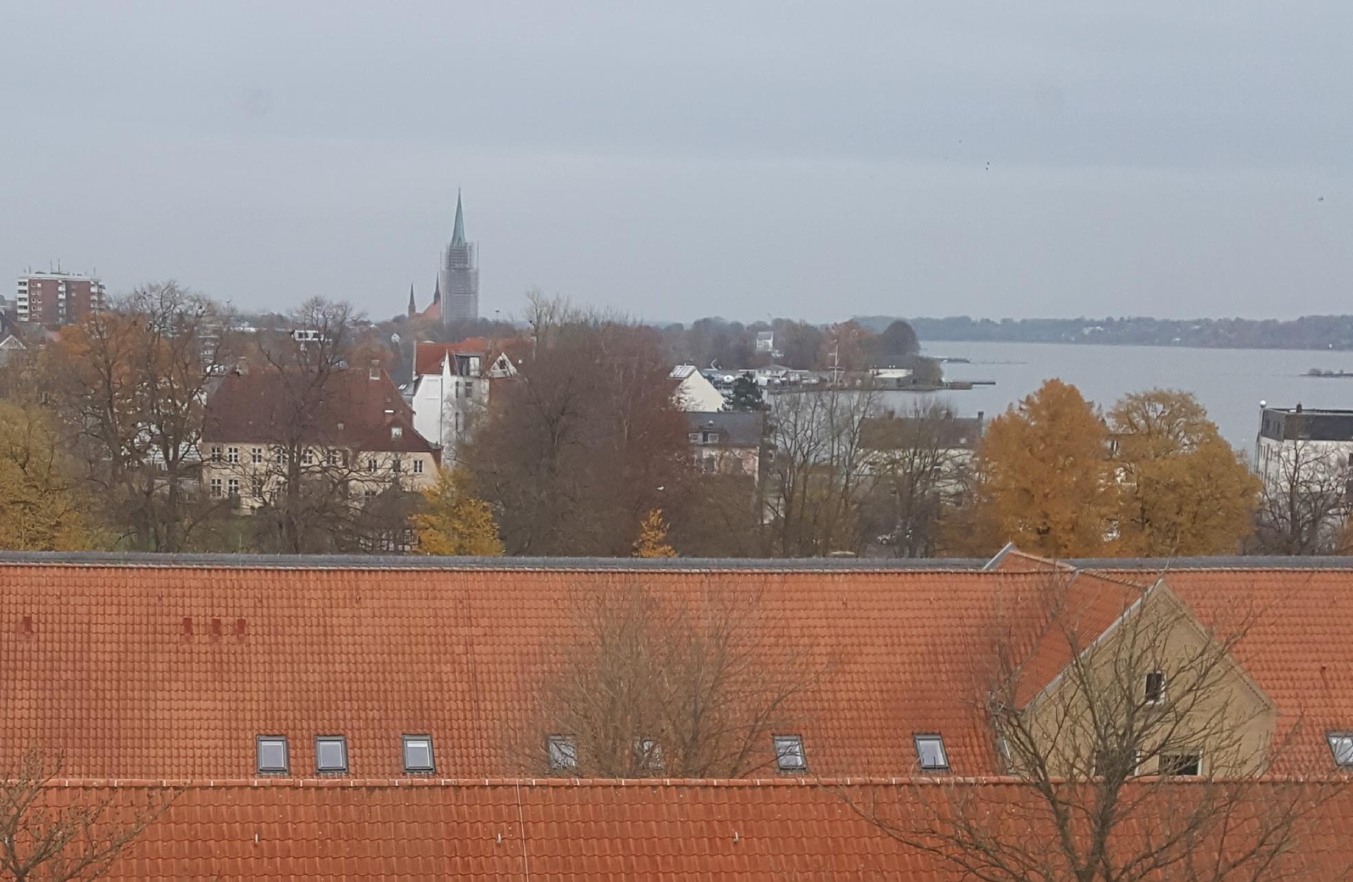 Schleswig, Germany from a window in Gottorf Castle