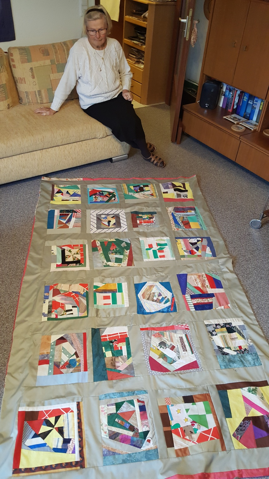 Christa is a wonderful quilter. This is a gift she made for her friend. Photo by Dragonfly Leathrum