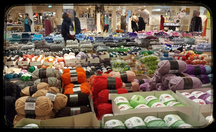 Sister-in-law and I found this amazing yarn and fabric store. I visited this store three times in three days. Heaven. Photo by Dragonfly Leathrum