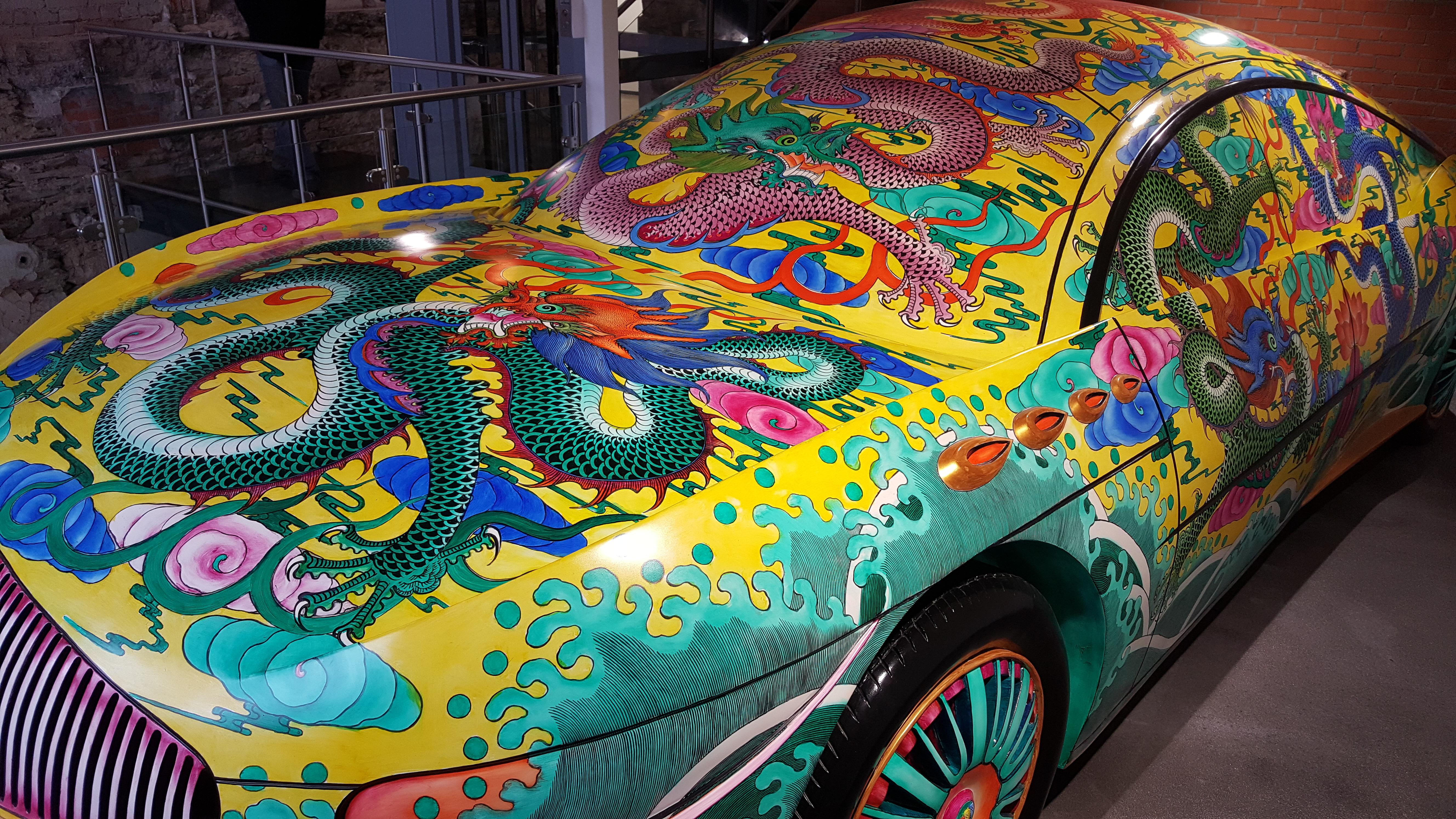 """Porcelin Car"" by Ma Jun, fiberglass 2008"
