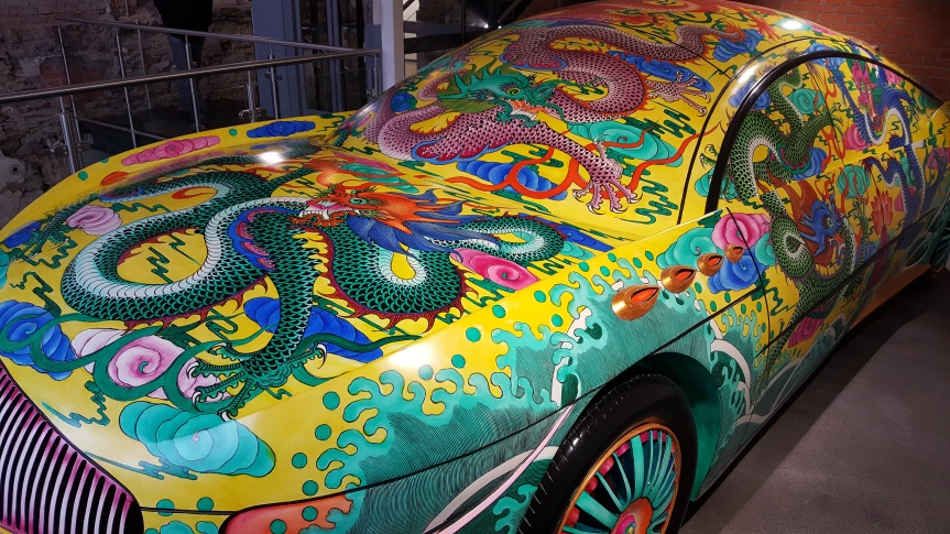 """Porcelin Car"" by Ma Jun, fiberglass 2008"