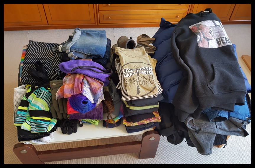 All of the clothes that I thought I would need for one year in Germany. Photo by Dragonfly LeathrumAll of the clothes that I thought I would need for one year in Germany. Photo by Dragonfly Leathrum