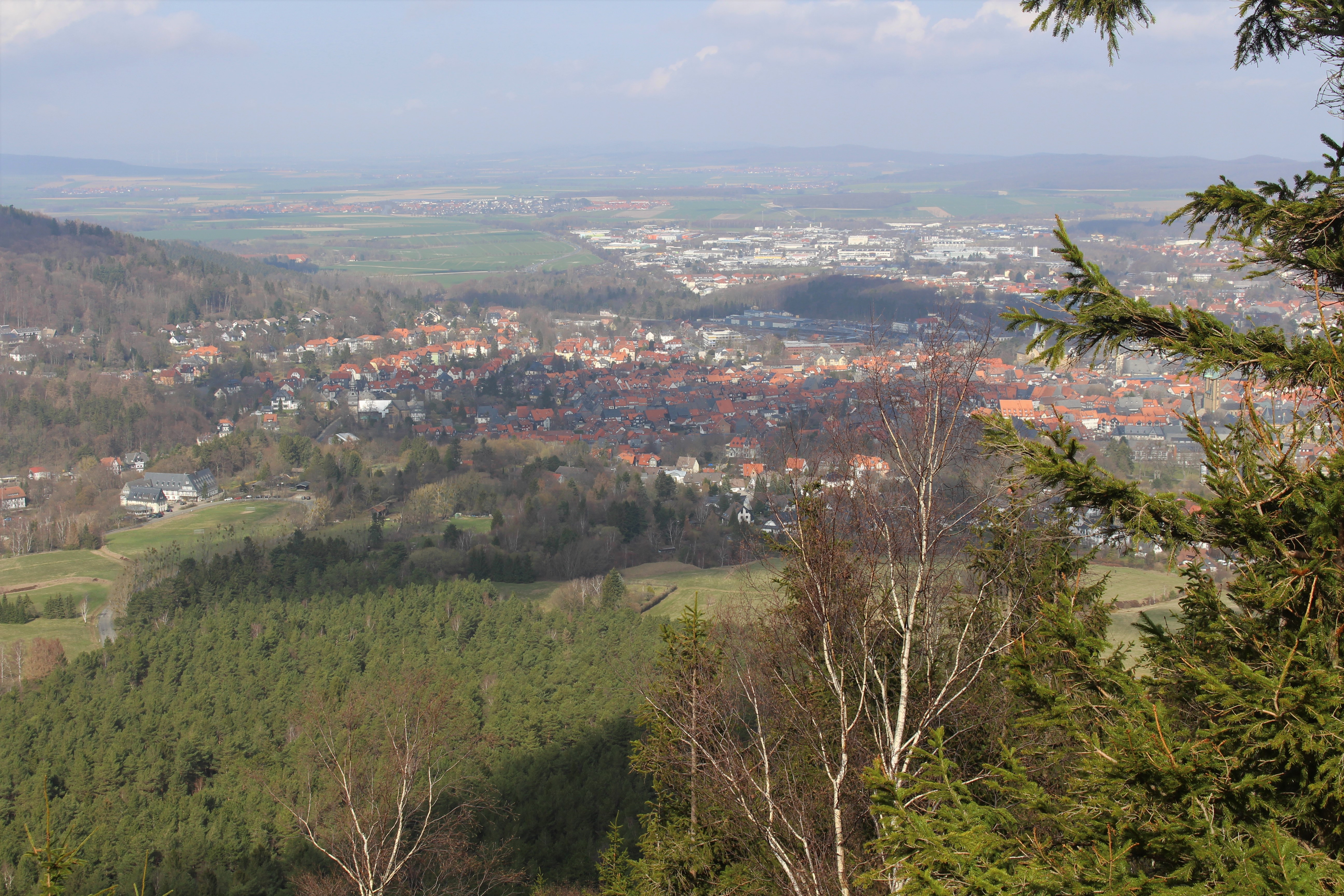 The view of Goslar from the top of our trail on the mountain. Photo by Dragonfly Leathrum