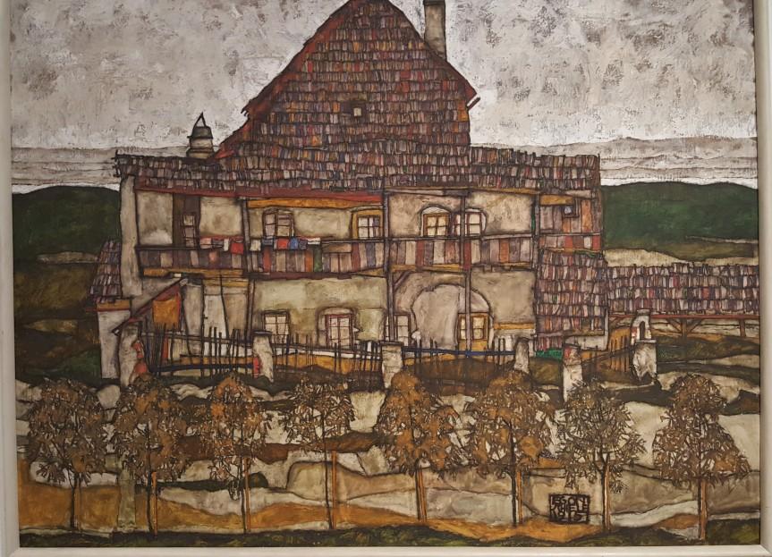 Haus mit Schindeldach 1915 by Egon Schiele.