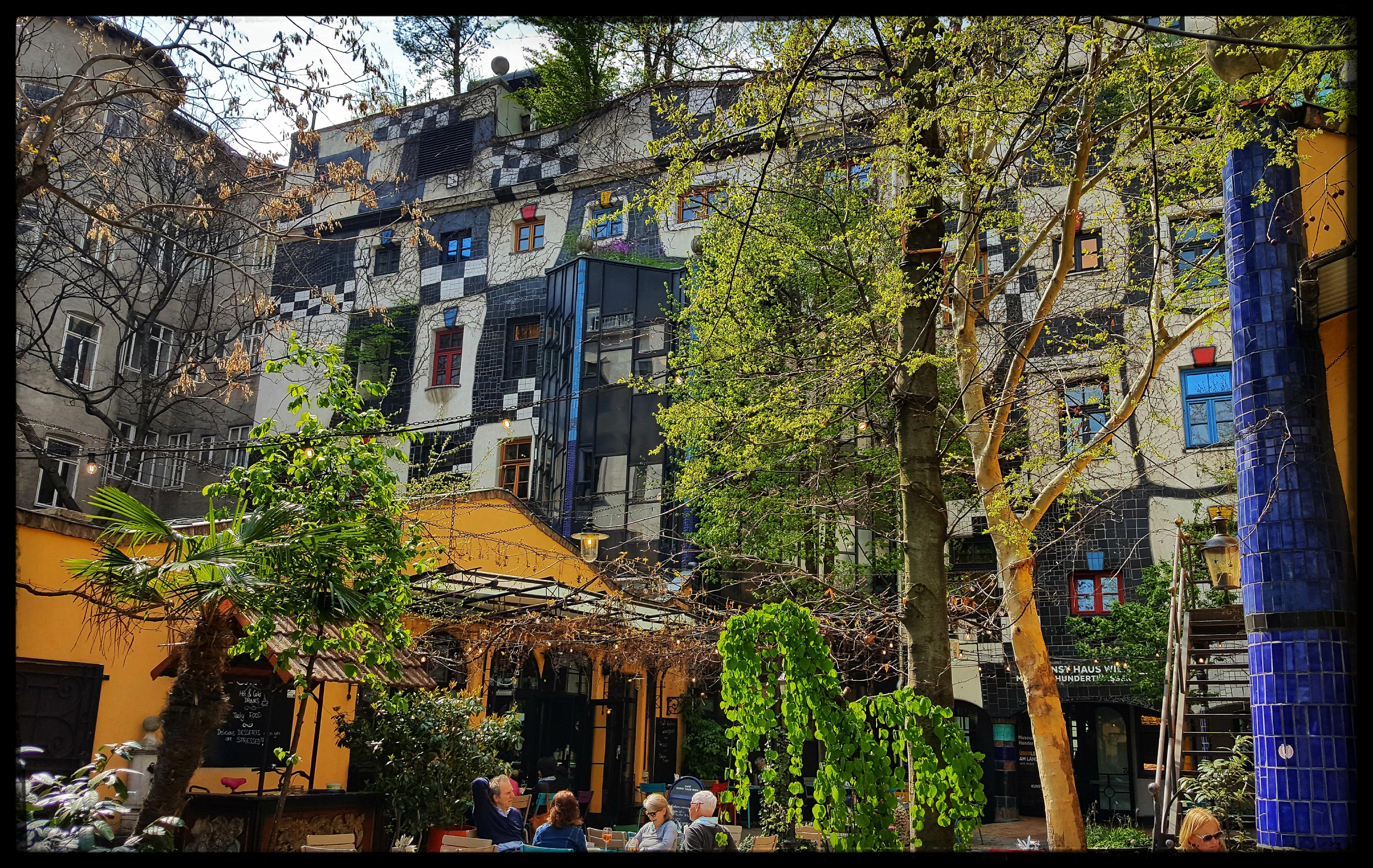 Garden Cafe at Museum Hundertwasser. Photo by Dragonfly Leathrum