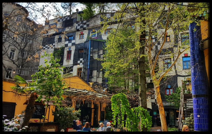 Garden Cafe at Museum Hundertwasser. Photo by Dragonfly Leathrum