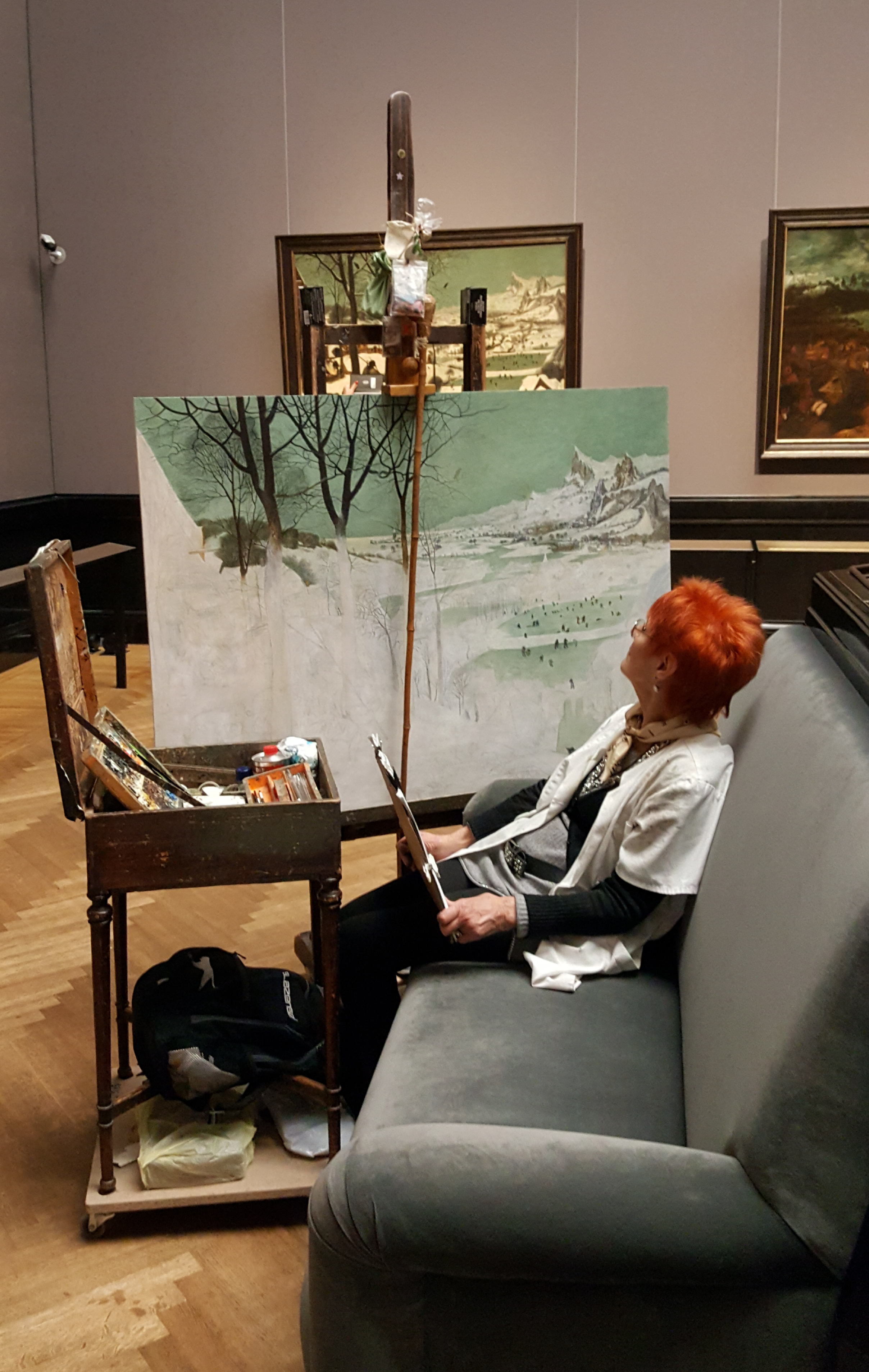 Artist replicating a painting in the Kunst Historisches Museum. Photo by Dragonfly Leathrum