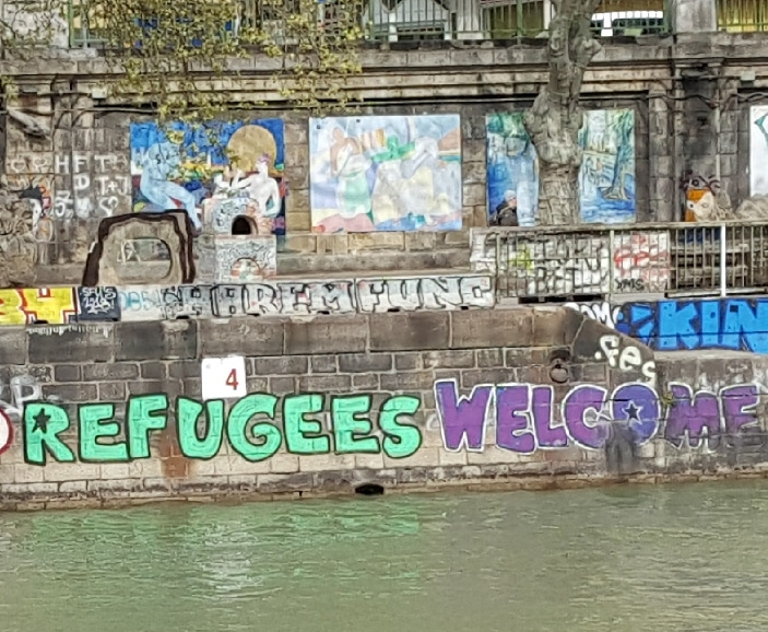 Danube Canal, Vienna. Photo by Dragonfly Leathrum