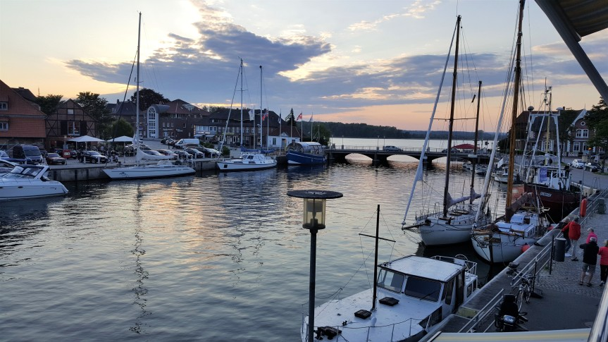 Neustadt Harbor at sunset. Photo by Dragonfly Leathrum