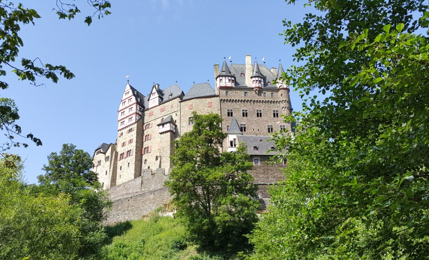 Eltz Castle from the hiking path. Photo by Dragonfly Leathrum
