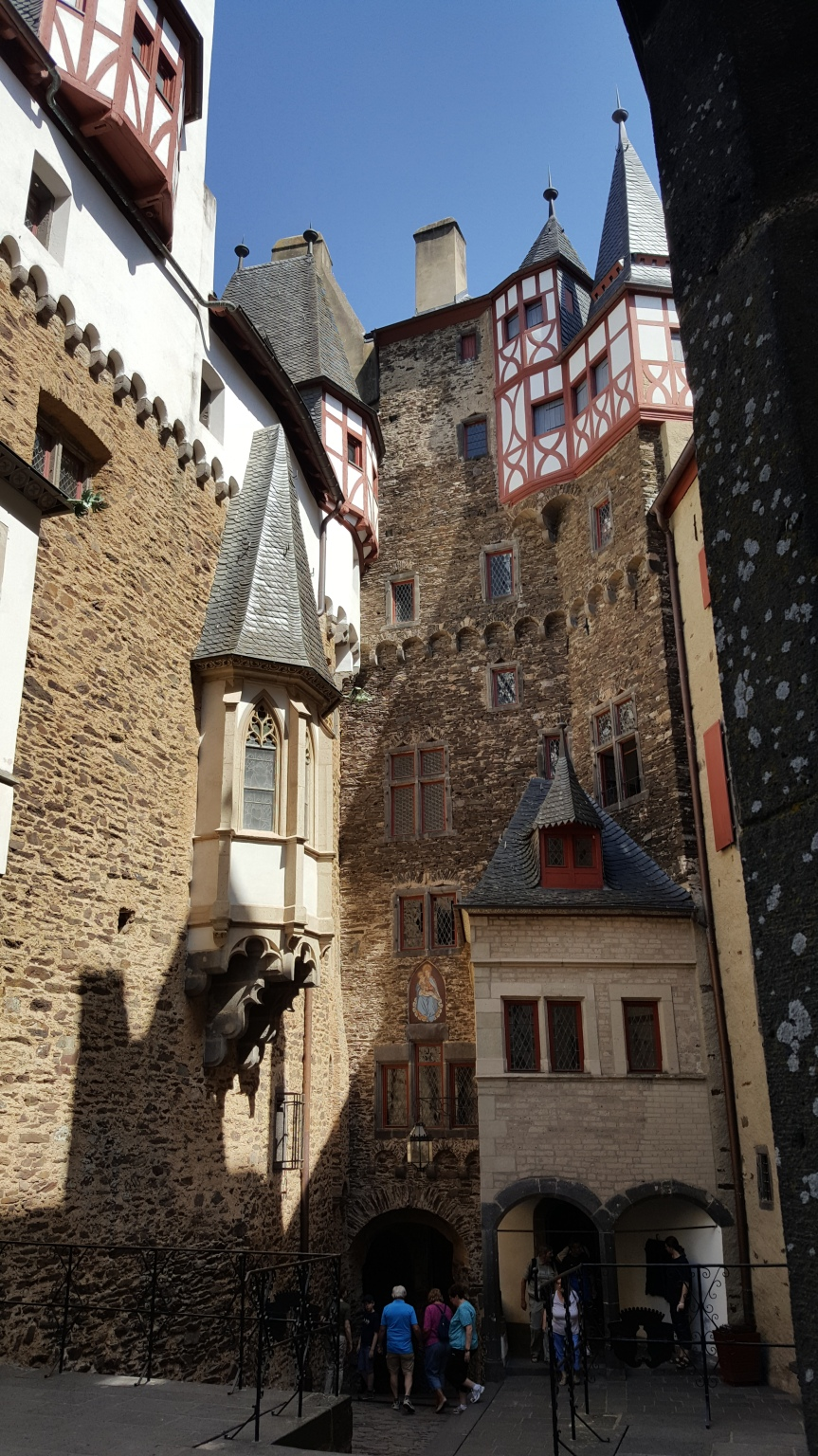 Interior courtyard at Eltz Castle. Photo by Dragonfly Leathrum