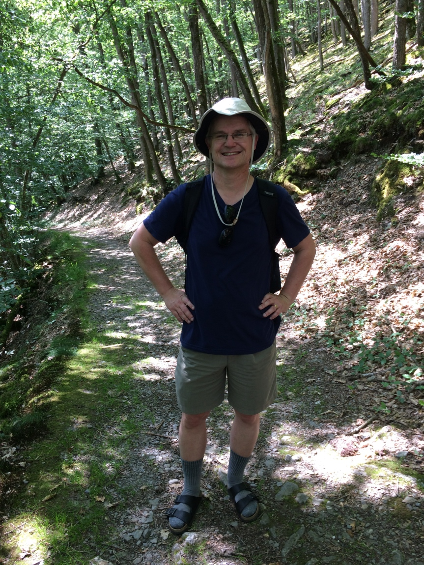 Andreas on the Jammertal Valley trail. Photo by some nice ladies on the trail.