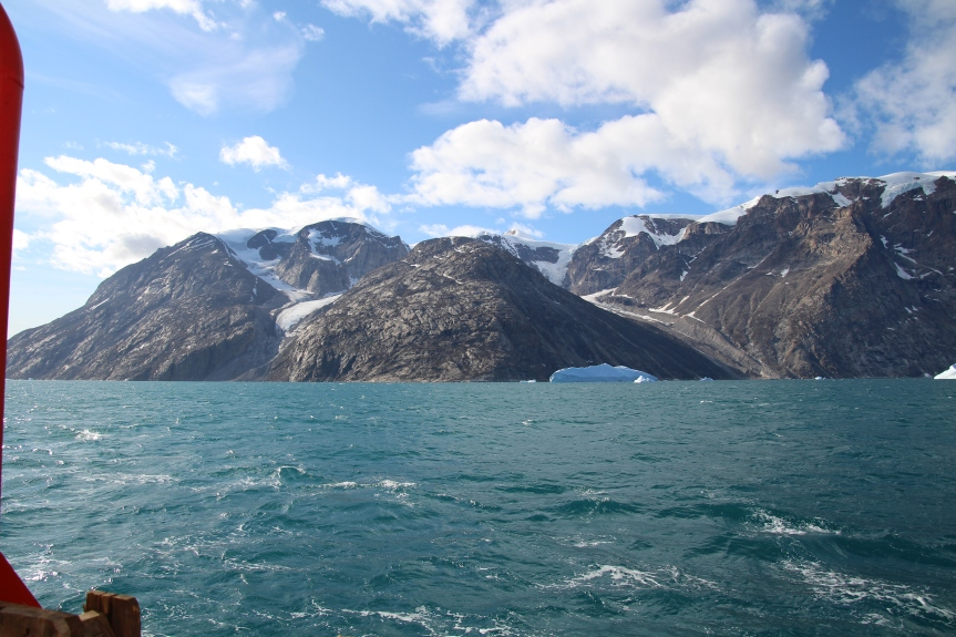 August 21, 2018, 12:28pm, Scoresby Sound Greenland. Photo by Dragonfly Leathrum