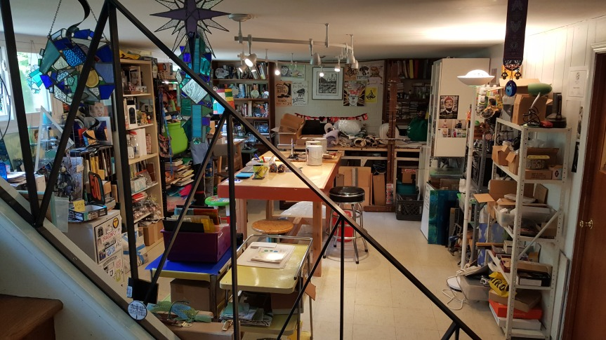 The art studio is unpacked, cleaned up and ready for new art to be made. Photo by Dragonfly Leathrum