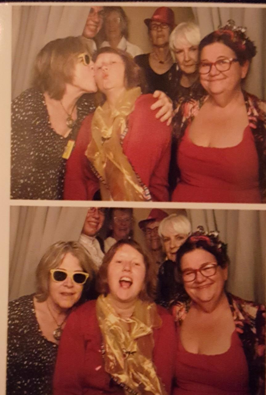 Trashy Women having fun at an art fundraiser in Chesapeake City, MD