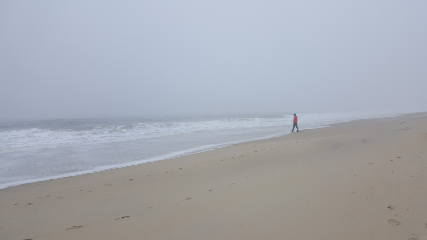 Andreas on South Bethany Beach in December. Photo by Dragonfly Leathrum