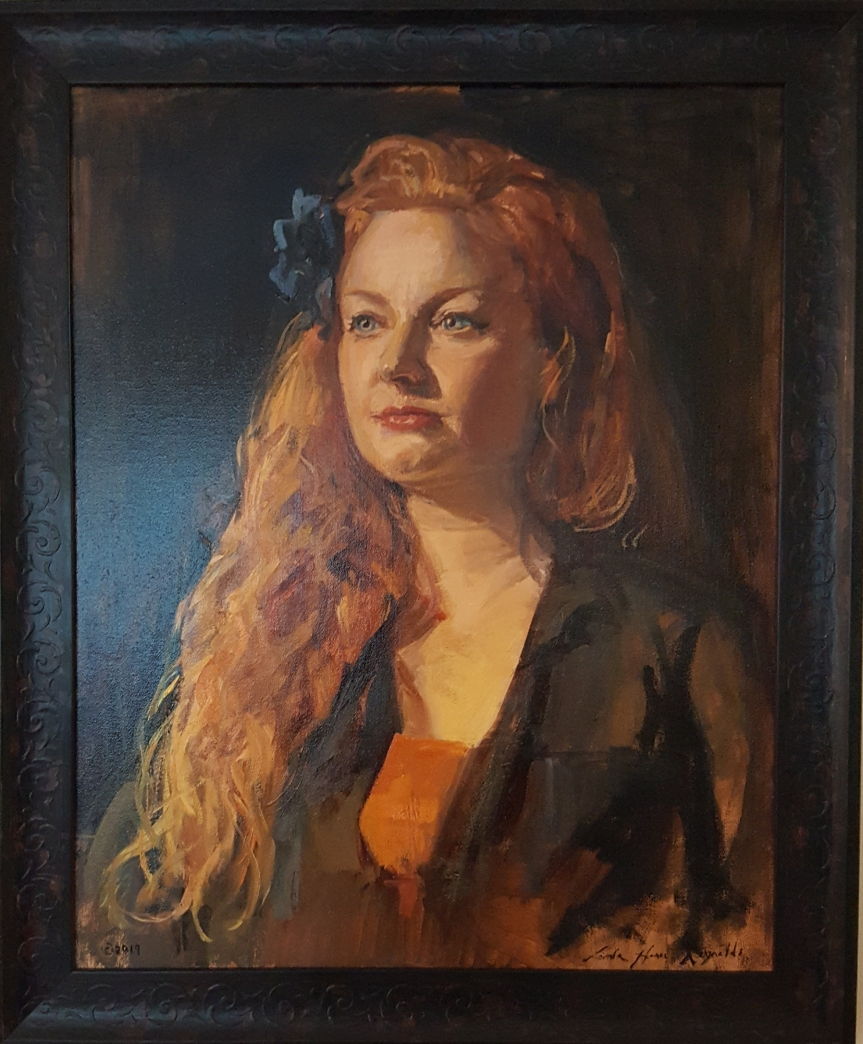 Portrait of Diana McDonald Keller in oil by Linda Harris Reynolds.