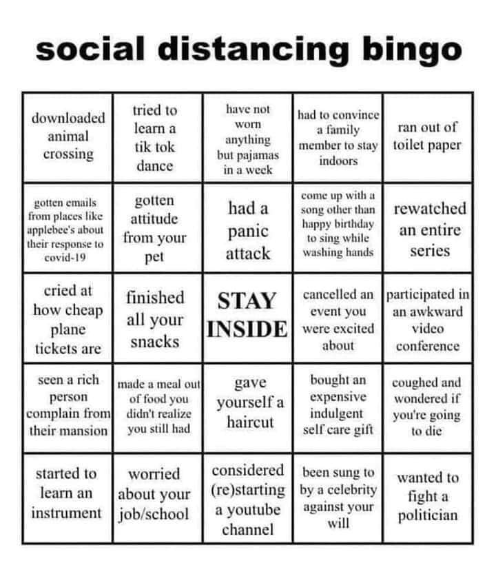 Do you have Bingo?