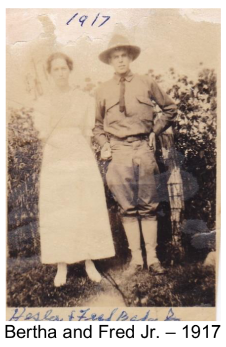 Hester and Fred Baker Jr. ( My dad wrote Bertha, but I think the photo says Hester)